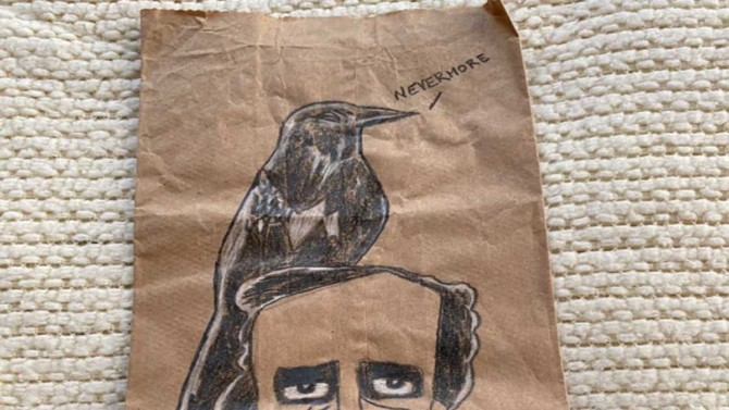 This dad creates amazing artwork on brown paper lunch bags